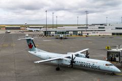 RICHMOND, CANADA - September 14, 2018: Busy life at Vancouver International Airport aircraft and cargo.  stock photography