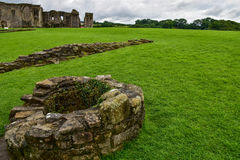 Richmond Castle in Richmond. England stock images