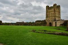 Richmond Castle i Richmond royaltyfri foto