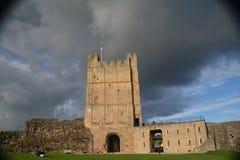 Richmond Castle in North Yorkshire immagini stock