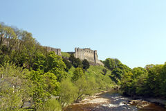 Richmond castle from the river Stock Photo