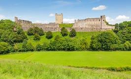 Richmond Castle in Yorkshire, Inghilterra immagine stock libera da diritti