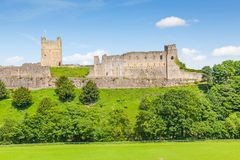 Richmond Castle in Yorkshire, Inghilterra fotografie stock libere da diritti