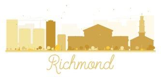 Richmond City skyline golden silhouette. Royalty Free Stock Photo