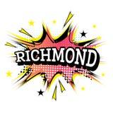 Richmond Comic Text no PNF Art Style ilustração stock