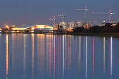 Richmond Development, Fraser River, British Columb Royalty Free Stock Images