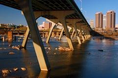 Richmond e James River fotografia stock