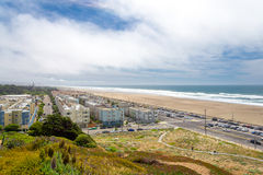 Richmond exterior, grande estrada, praia do oceano, San Francisco, Calif imagem de stock royalty free