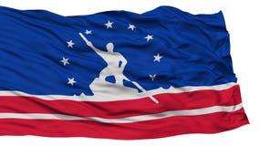 Richmond Flag d'isolement, ondulant sur le fond blanc Images libres de droits