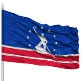 Richmond Flag sur le mât de drapeau, ondulant sur le fond blanc Photographie stock libre de droits