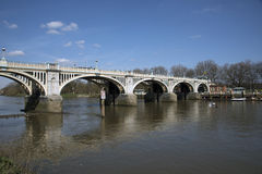 Richmond kędziorki na Rzecznym Thames Zdjęcie Royalty Free