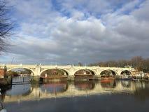 Richmond Lock en Voetgangersbrug royalty-vrije stock foto