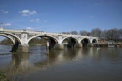 Richmond Locks on the River Thames. Richmond Locks without sluice gates raised Royalty Free Stock Photo