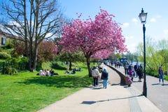 Richmond London por el río Támesis Foto de archivo