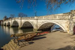 Richmond nella mattina di inverno, Londra fotografia stock libera da diritti