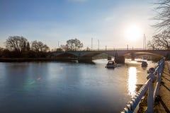 Richmond nella mattina di inverno, Londra fotografie stock