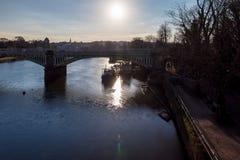 Richmond nella mattina di inverno, Londra immagini stock libere da diritti