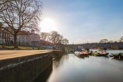 Richmond nella mattina di inverno, Londra immagine stock libera da diritti