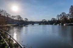 Richmond nella mattina di inverno, Londra immagini stock