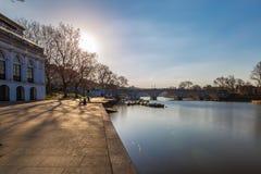 Richmond nella mattina di inverno, Londra fotografie stock libere da diritti