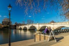 Richmond nella mattina di inverno, Londra fotografia stock
