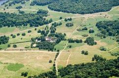 Richmond Park en Holly Lodge, Satellietbeeld royalty-vrije stock afbeeldingen