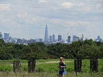 Richmond Park and a View of London Uk stock photo