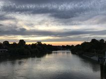 Richmond River Sunset View immagini stock