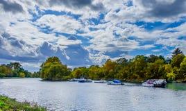 Richmond-rivière la Tamise photo stock