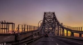Richmond -San Rafael Bridge at sunset stock photo