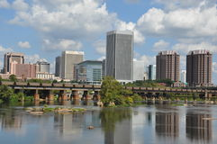 Richmond Skyline in Virginia Royalty Free Stock Photo
