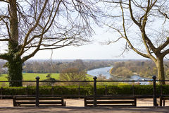 Richmond Upon Thames. The beautiful view from Richmond Hill in Richmond Upon Thames, Greater London Royalty Free Stock Image
