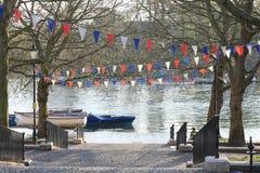 Richmond Upon Thames flod, UK Arkivfoto