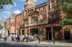Visitors outside the historic Richmond Theatre, London stock photo