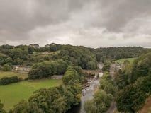Richmond Town in North Yorkshire-Engeland het UK stock foto's