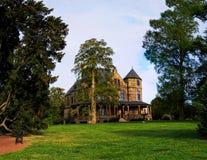 Richmond Va usa Maymount z drzewami, fontanny, wzgórza, dwór przy zmierzchem Zdjęcie Stock