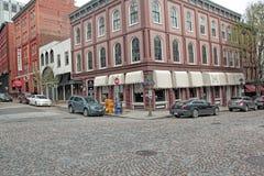 Richmond, Va Vecchie strade del ciottolo immagine stock