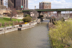 Richmond Virginia canal walkway Royalty Free Stock Photography