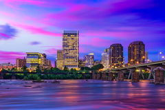 Richmond, Virginia Downtown Skyline Lizenzfreies Stockfoto