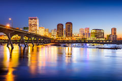 Richmond Virginia downtown Skyline stock image