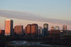 Richmond Virginia på solnedgången arkivbild