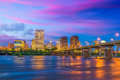 Richmond, Virginia River Skyline stock image