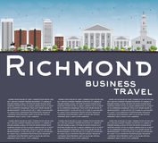 Richmond (Virginia) Skyline with Gray Buildings and Copy Space. Vector Illustration. Business Travel and Tourism Concept with Modern Buildings. Image for Royalty Free Stock Image