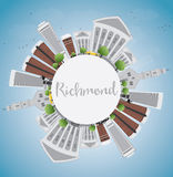Richmond (Virginia) Skyline with Gray Buildings and Copy Space. Royalty Free Stock Image