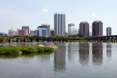 Richmond Virginia Skyline View Arkivfoto