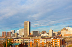 Richmond. Virginia skyline on a winter morning Royalty Free Stock Photo