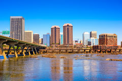 Richmond, Virginia, USA. Downtown skyline on the James River stock photography