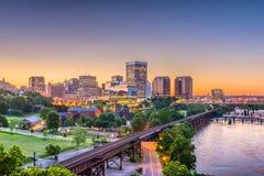 Richmond Virginia, USA Skylinhe arkivfoto