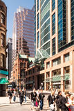 Richmond and Yonge intersection in Toronto, Canada. Richmond and Yonge street intersection in Toronto. In existance since 1794, Yonge Street was known as the Stock Photography