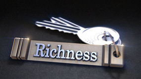 Richness Concept. Keys with Keyring. 3D rendering Royalty Free Stock Images